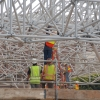 Deconstruction and Removal of Space Frame